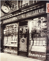 Photo du magasin familial vers 1900